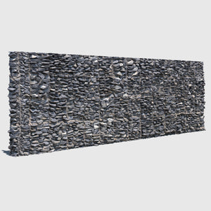 large section of a cg man-made rock wall made up of smaller gray rocks cemented together rendered with medium resolution texture