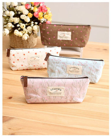 Floral Travel Cosmetic Pouch