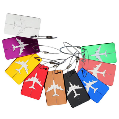 Stainless Steel Aluminum Luggage Tags