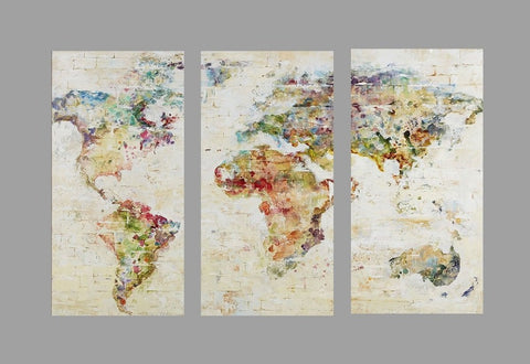 LIMITED EDITION: Watercolor World Map Canvas Prints
