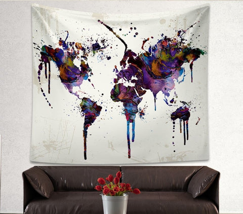 $25 FLASH SALES: Abstract World Map Tapestry