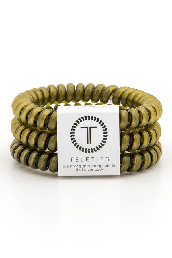 Teleties Hair Ties - Olive Green