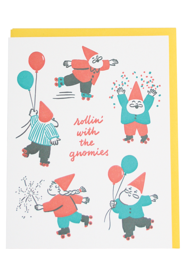 Smudgey Greeting Card - Gnomies