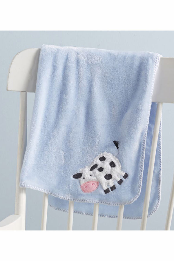 Baby Fleece Blanket - Cow