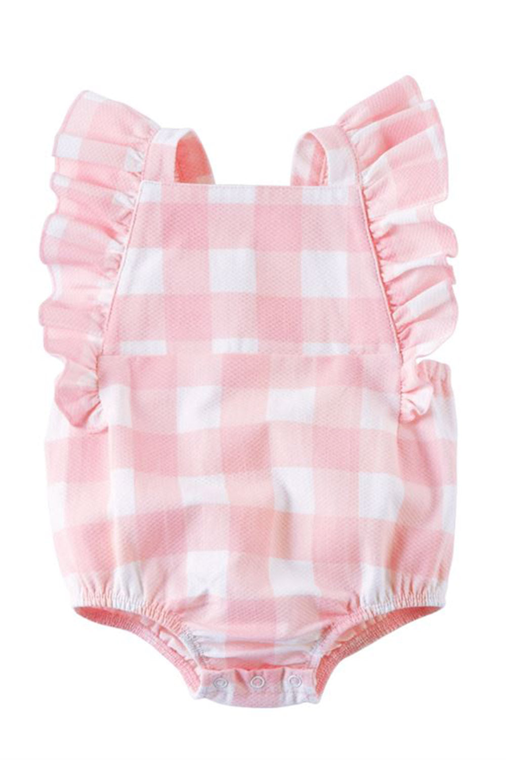 Gingham Ruffle Sunsuit - Pink