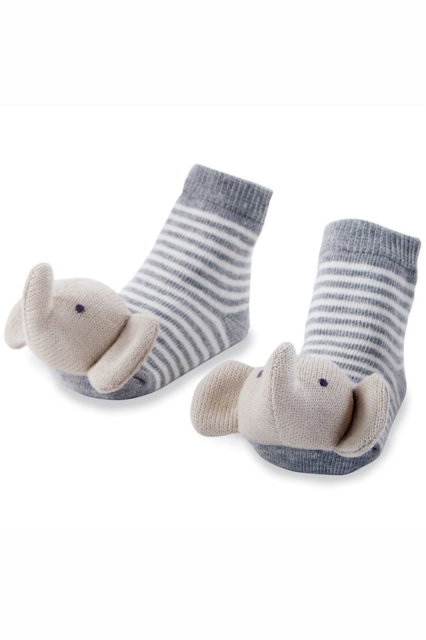 Baby Rattle Socks - Elephant