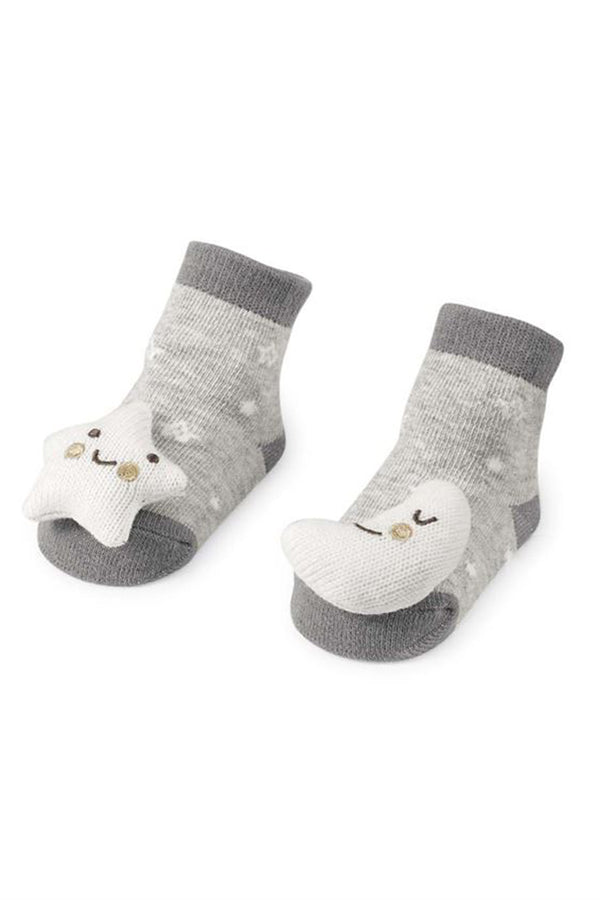 Baby Rattle Socks - Moon Star