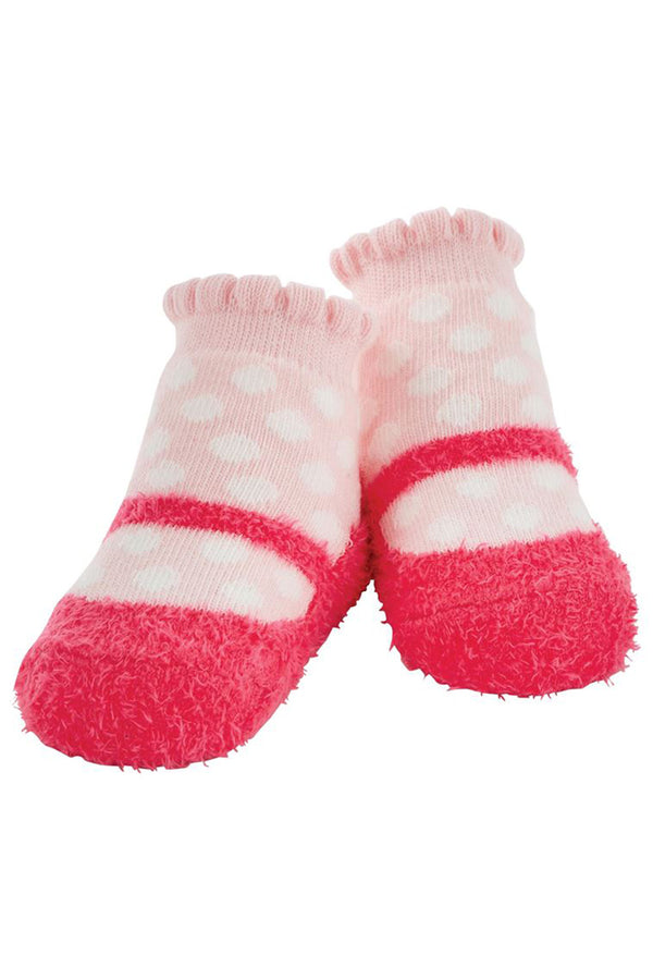 Baby Socks - Mary Jane Chenille Dot