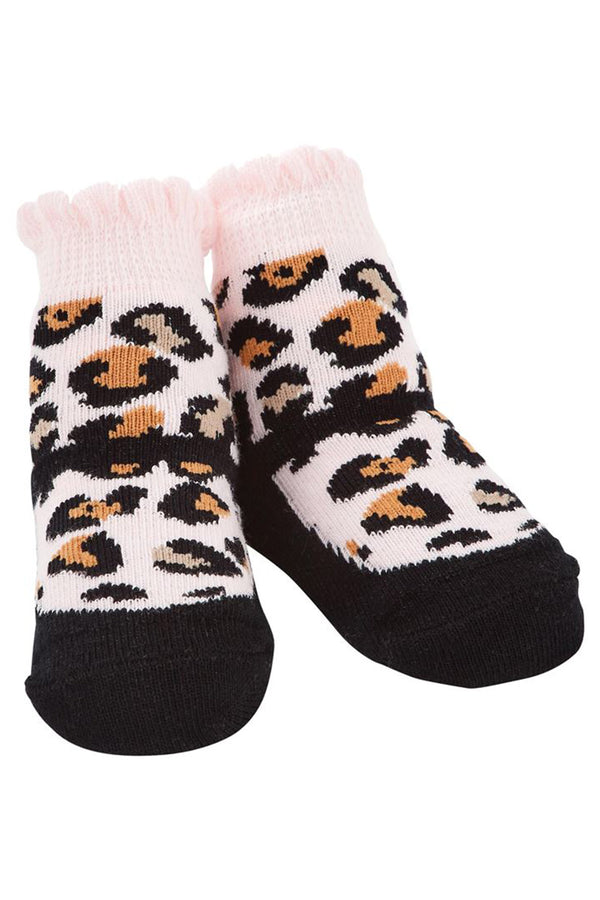 Baby Socks - Black Leopard