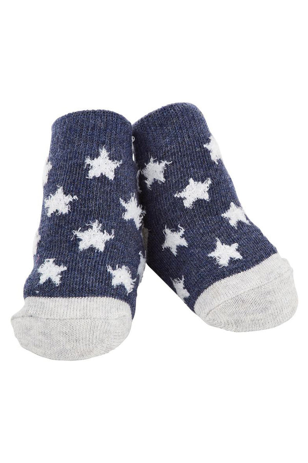 Baby Socks - Navy Chenille Star