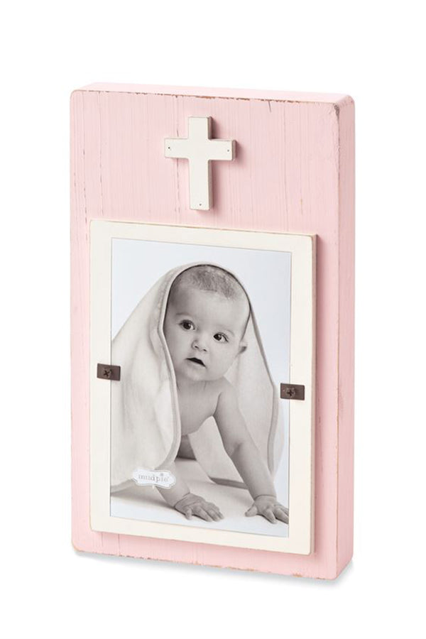 Cross Block Frame - Pink