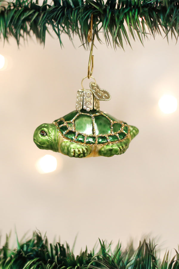 Glass Ornament - Small Turtle