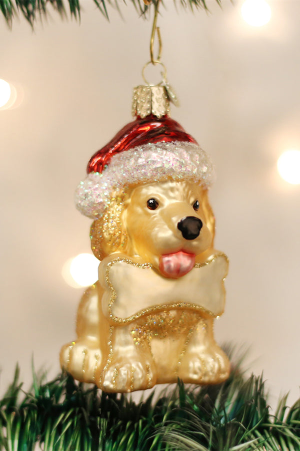 Glass Ornament - Jolly Pup