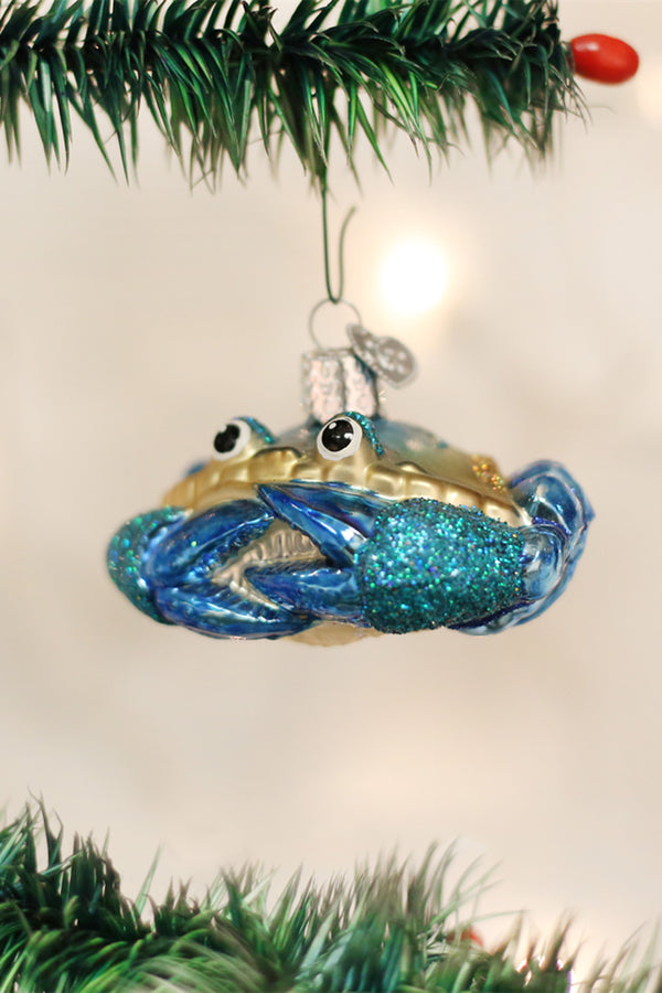 Glass Ornament - Blue Crab