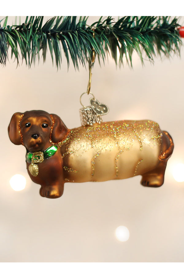 Glass Ornament - Wiener Dog Dachshund