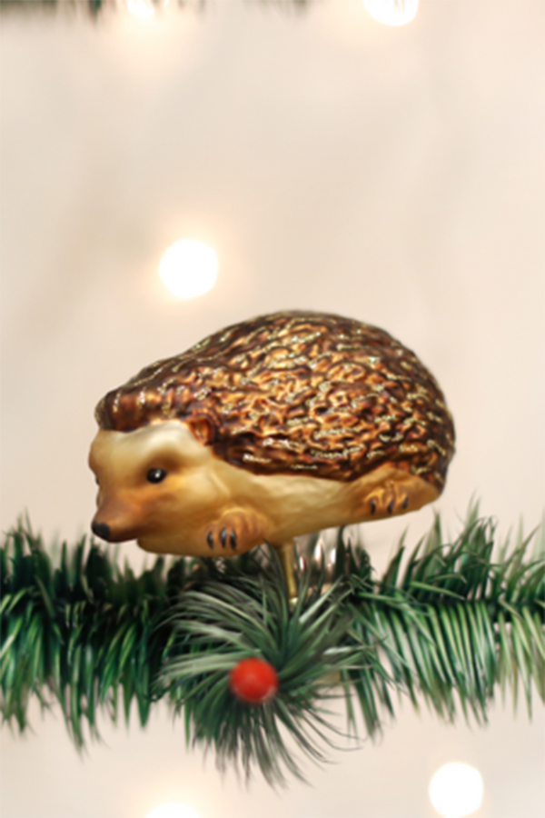 Glass Ornament - Hedgehog