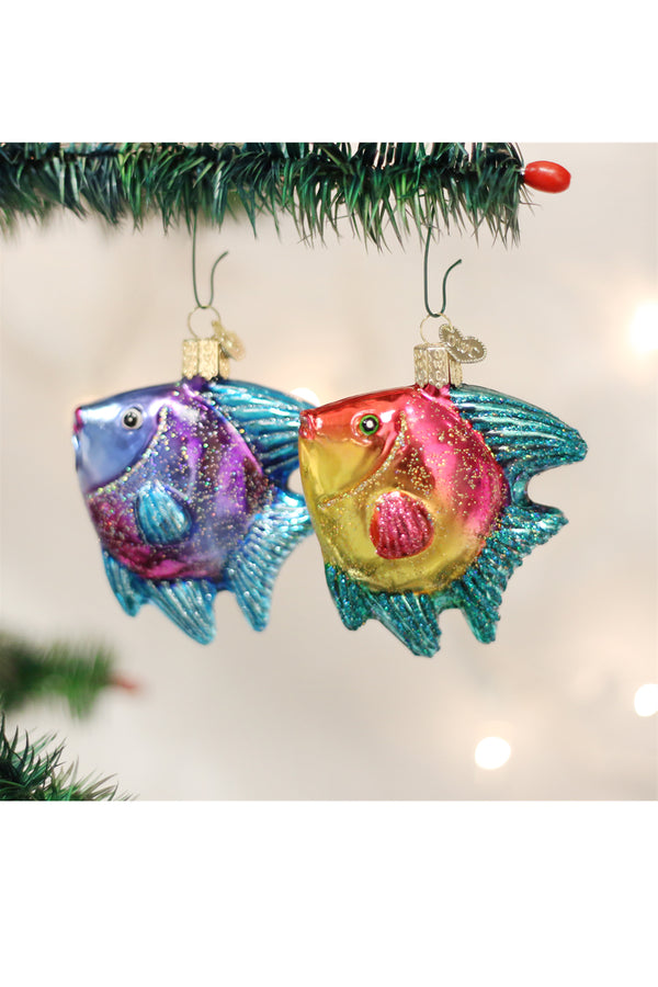 Glass Ornament - Tropical Angelfish
