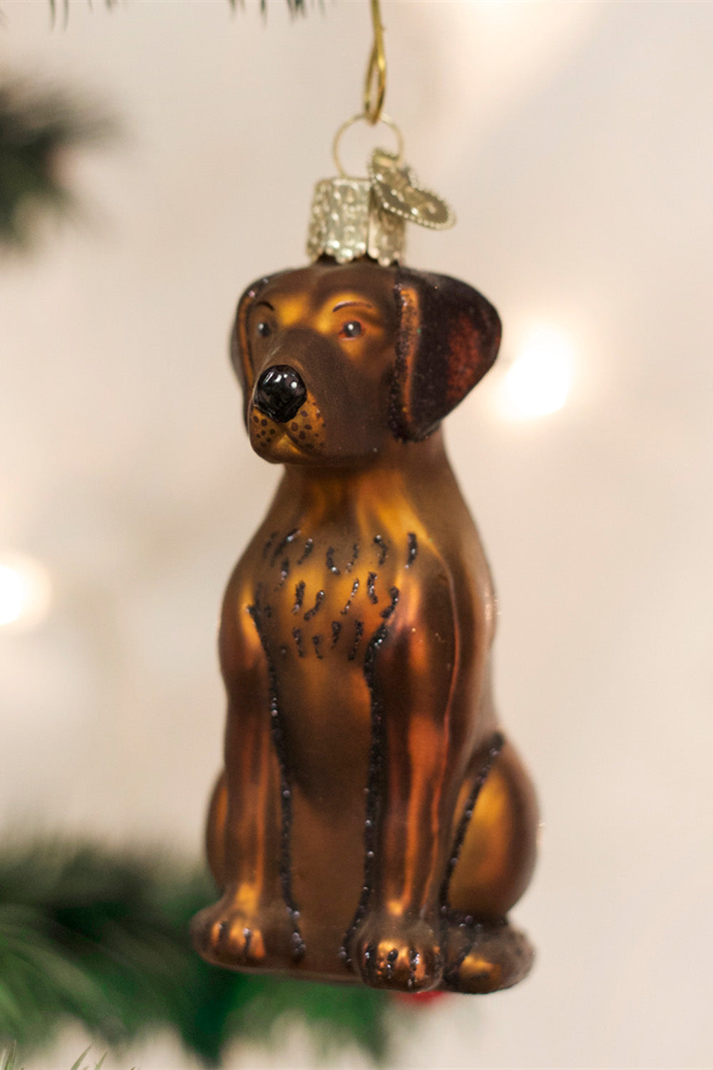 Glass Ornament - Chocolate Lab