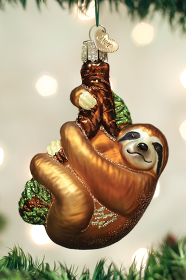 Glass Ornament - Sloth