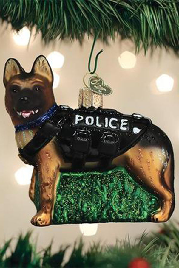 Glass Ornament - K-9 Dog
