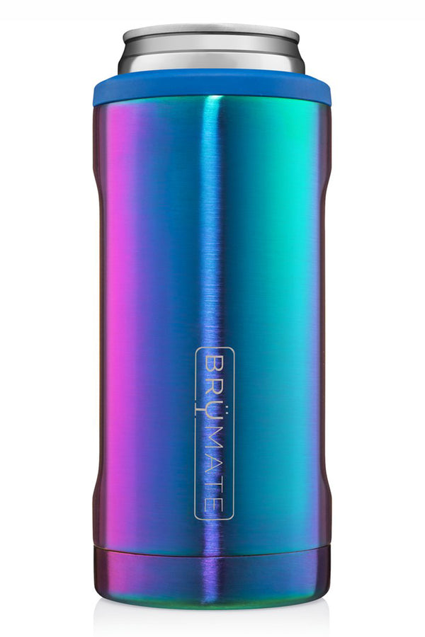 Hopsulator Skinny Can Cooler - Rainbow Titanium