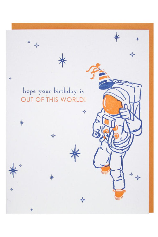 Smudgey Greeting Card - Astronaut Bday