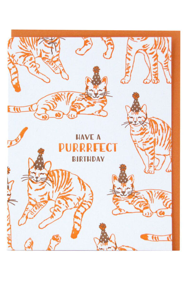 Smudgey Greeting Card - Party Cats