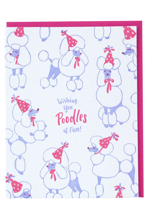 Smudgey Greeting Card - Party Poodles