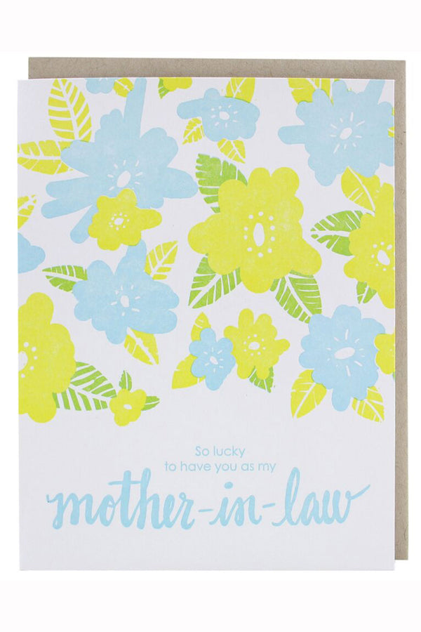 Smudgey Greeting Card - Mother's Day Floral Mother-In-Law