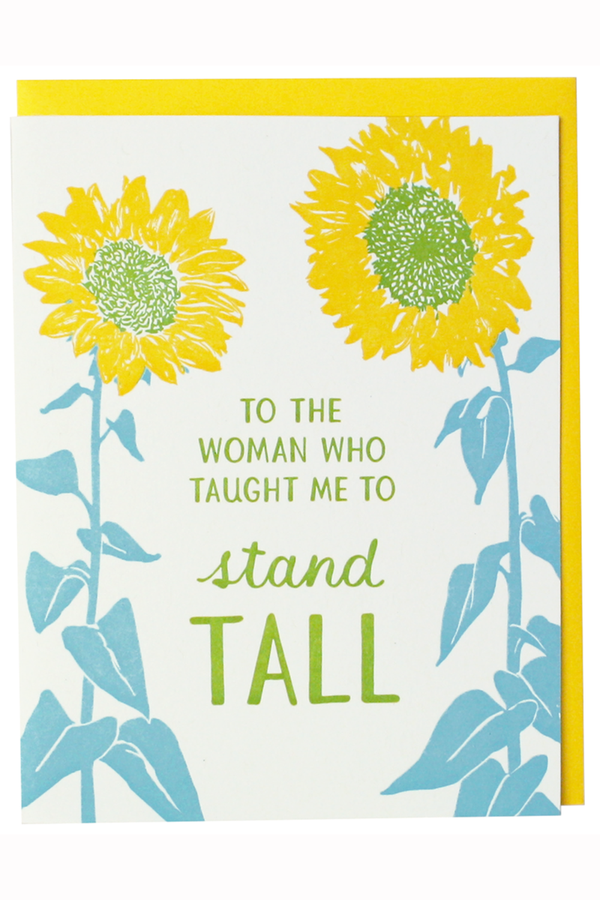 Smudgey Greeting Card - Mother's Day Sunflower