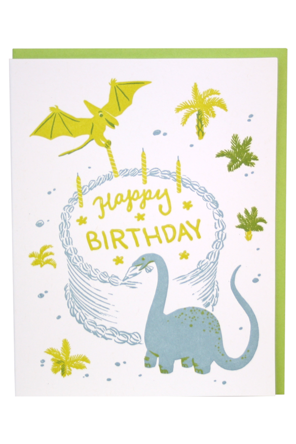Smudgey Greeting Card - Dinosaur Bakers