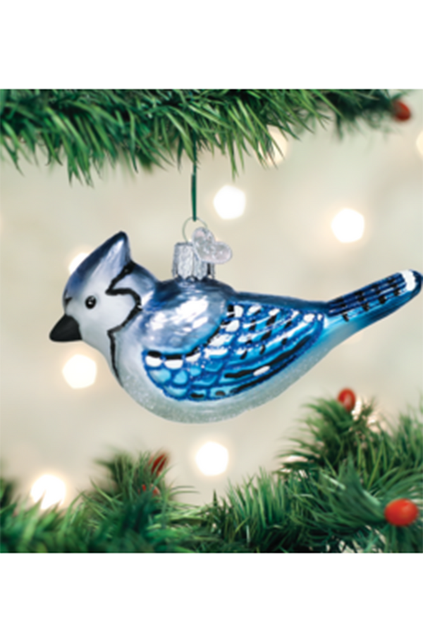 Glass Ornament - Blue Jay