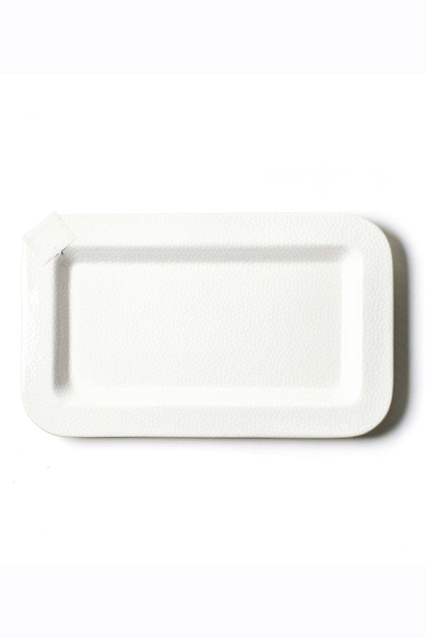 Mini Rectangle Entertaining Platter - White Small Dot