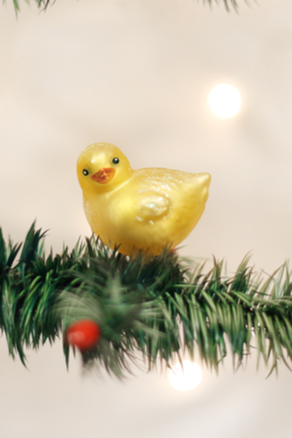 Glass Ornament - Baby Chick