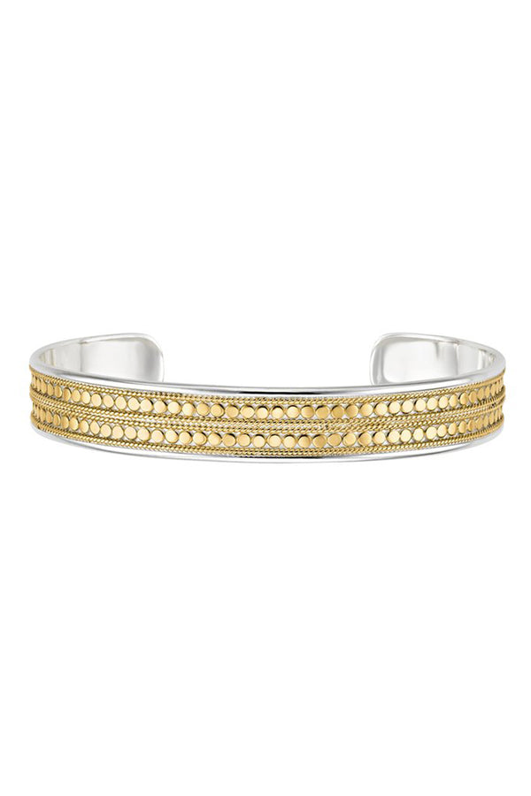 AB Double Beaded Cuff - Gold