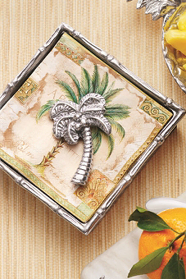 Mariposa Napkin Weight - Palm Tree