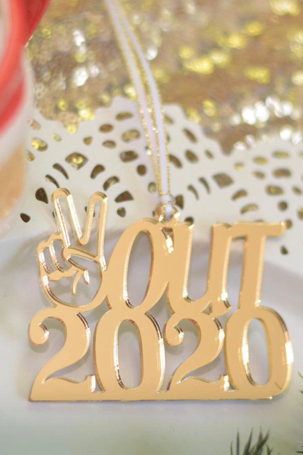 SIDEWALK SALE - Funky Ornament - Peace Out 2020