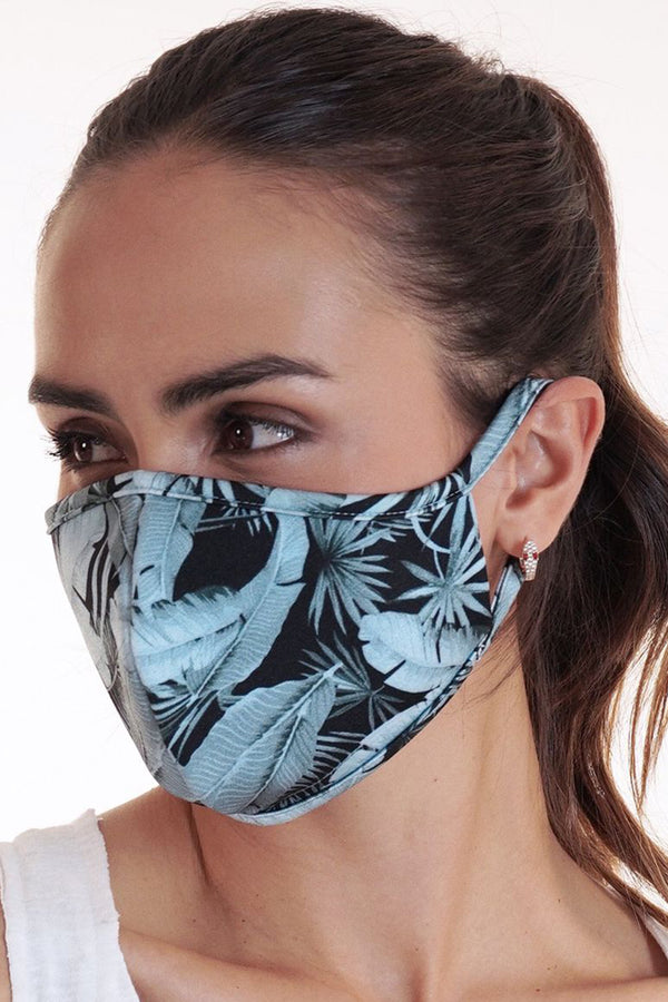 Reversible Face Mask - Leaf on Black