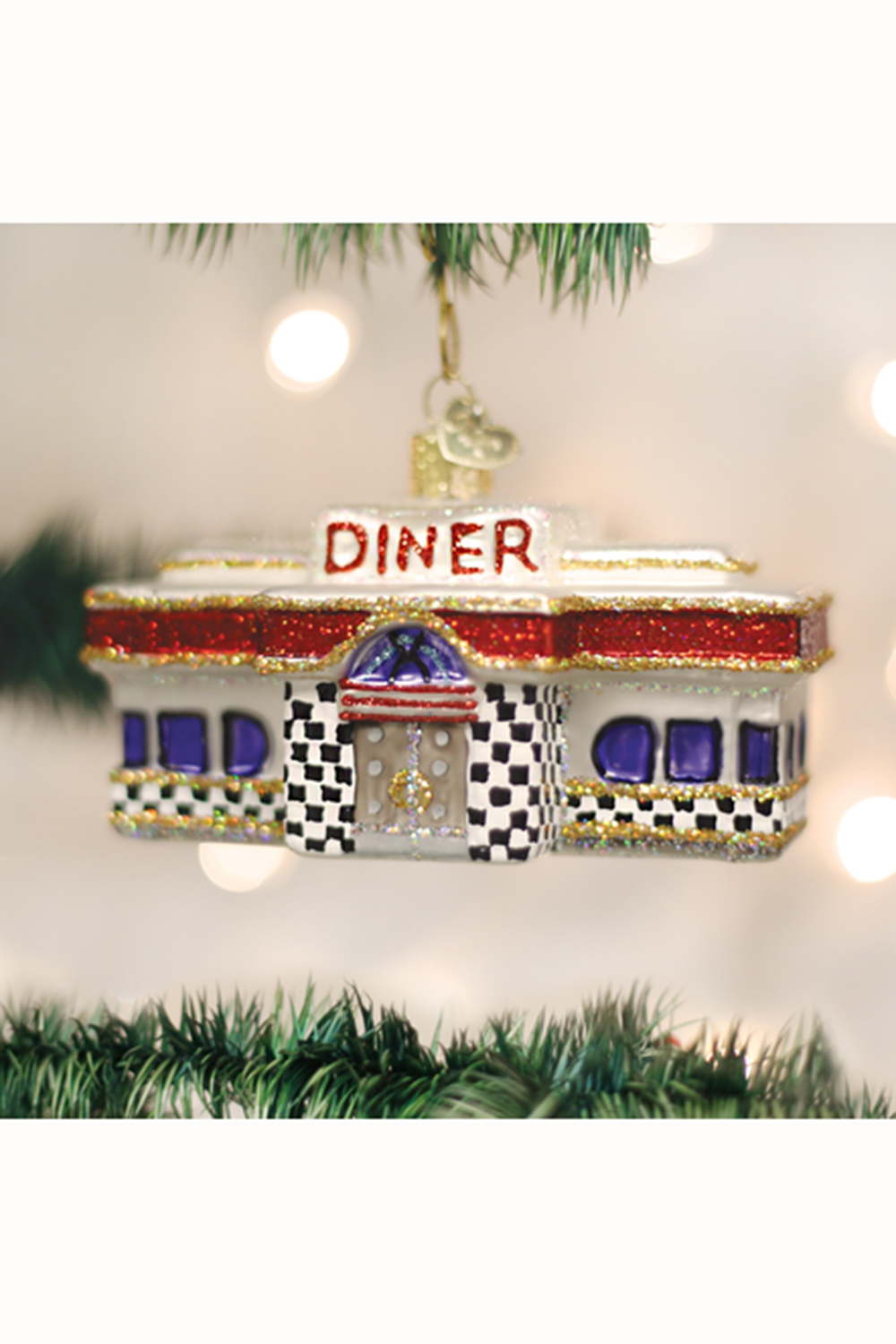 Glass Ornament - Diner