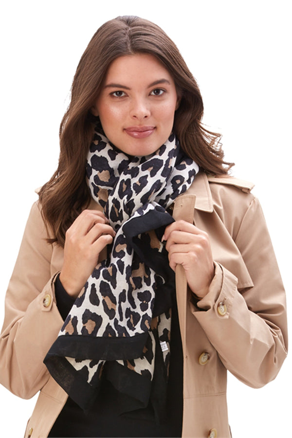 Leopard Print Scarf - Light