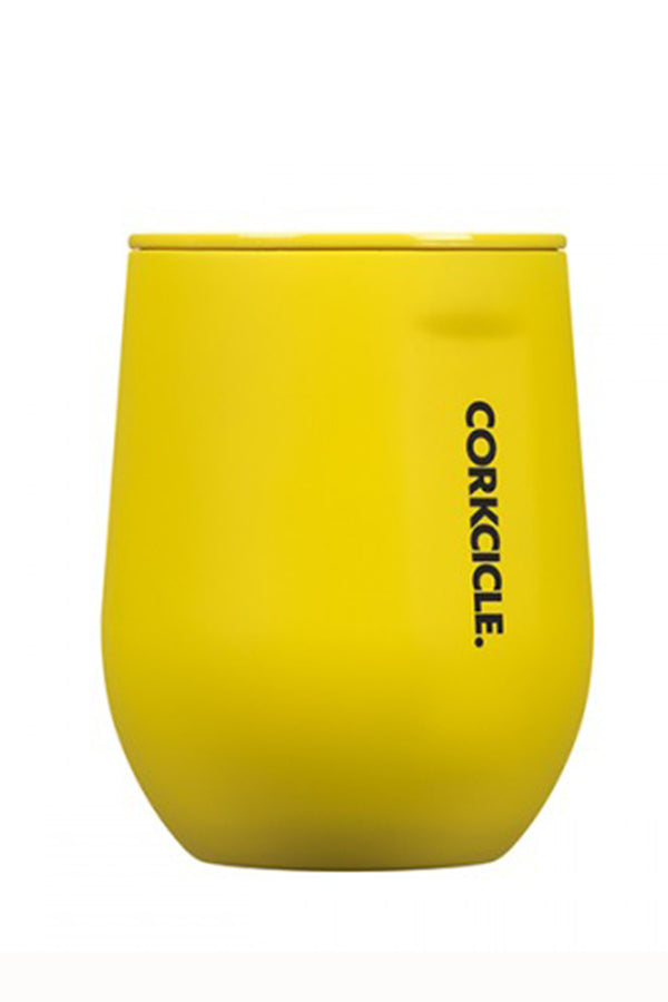 Modern Corkcicle Stemless Wine Tumbler - Neon Yellow
