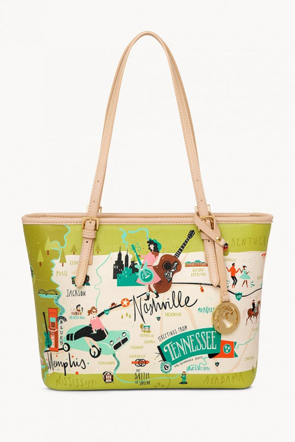 Destination Map Small Tote Bag - Tennessee
