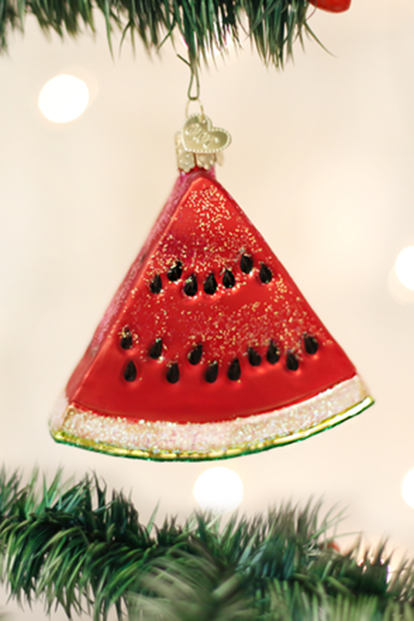 Glass Ornament - Watermelon Wedge