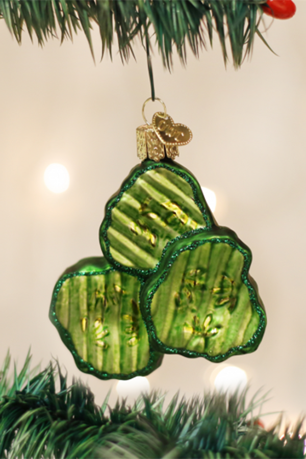 Glass Ornament - Pickle Chips