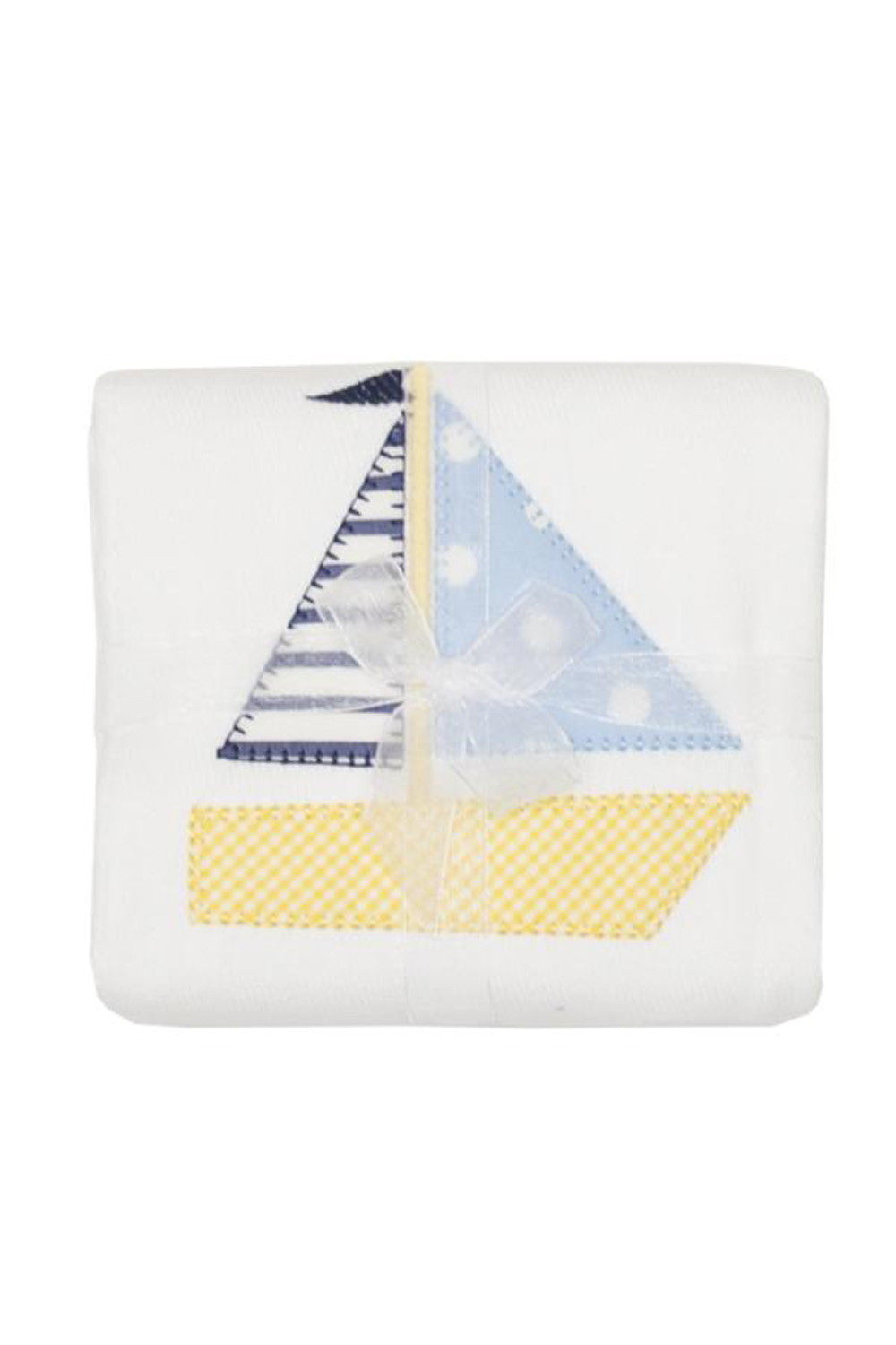 Applique Burp Pad - Sailboat