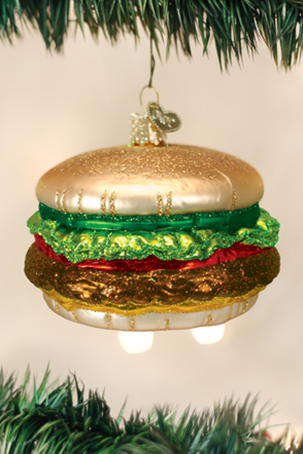 Glass Ornament - Cheeseburger