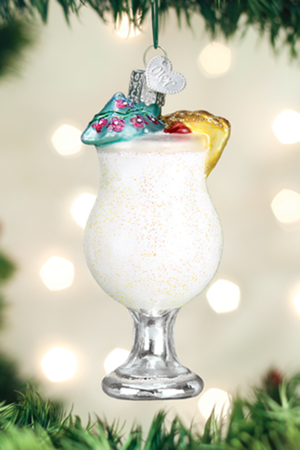 Glass Ornament - Pina Colada