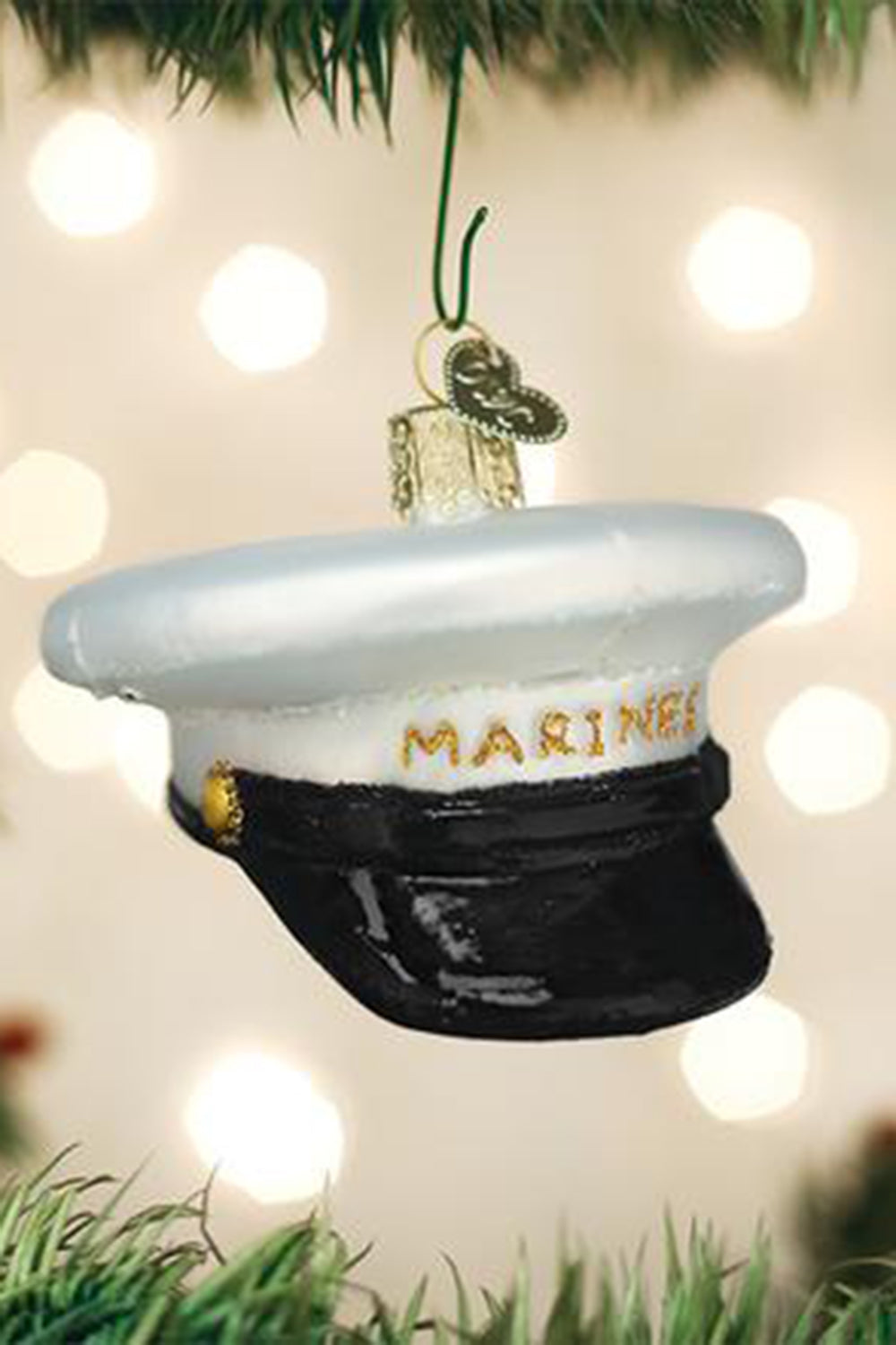 Glass Ornament - Marine Cap