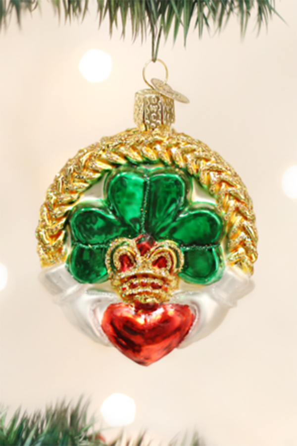 Glass Ornament - Irish Claddagh