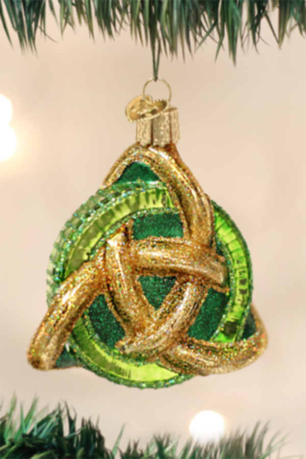 Glass Ornament - Irish Trinity Knot